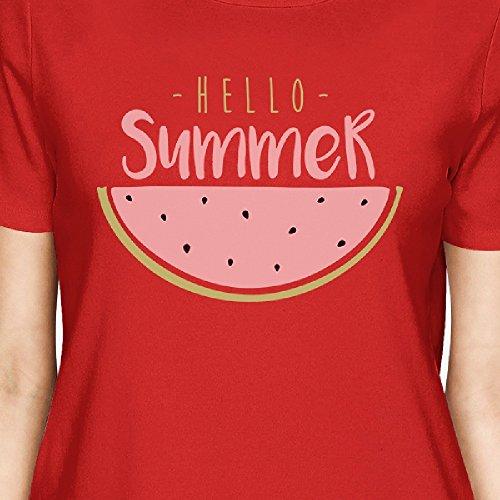 shirt 365 Printing Hello T Taille Watermelon Unique Manches Summer Femme Courtes WWEan