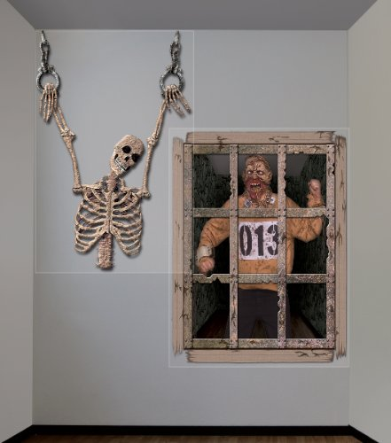 Halloween Giant Gruesome Wall Decorations (Halloween Giant Gruesome Wall Decorations, Black/Grey, [17 Pieces] - Product Description - Includes (2) Plastic Wall Decorations. Each Measures 48