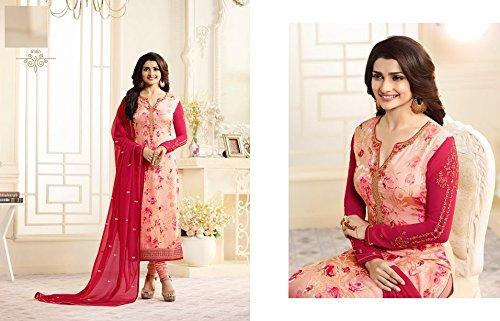 Rosa pakistano musulmana Straight donne designer 649 desai Suit indiano prachi Party Salwar abito vestito Bollywood Wear YZqpwx
