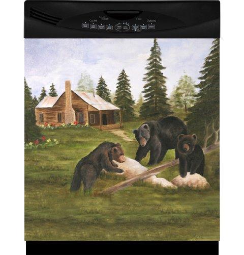 Three Bears Custom Dishwasher Cover