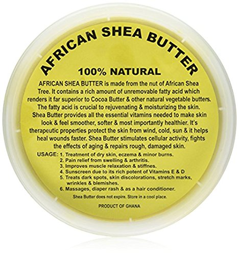 Shea Butter Jar (CBC African Raw Unrefined Natural Soft Creamy Yellow Ivory Shea Butter, 32oz Jar with Aloe Mask (Yellow Shea Butter))