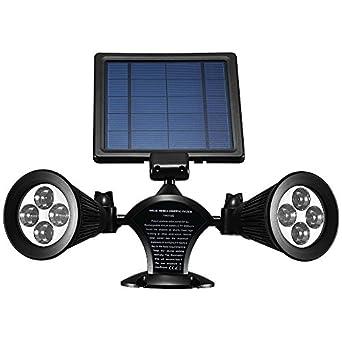 Solar Lights Outdoor Waterproof Double Spotlights Wireless Solar Powered 360