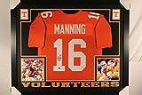 Peyton Manning Autographed Signed Tennessee Volunteers Custom Framed Jersey Hologram & COA