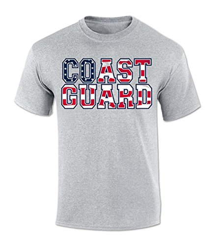 Coast Guard Stripe (COAST GUARD STARS AND STRIPES T-SHIRT (GREY) - 3XL)