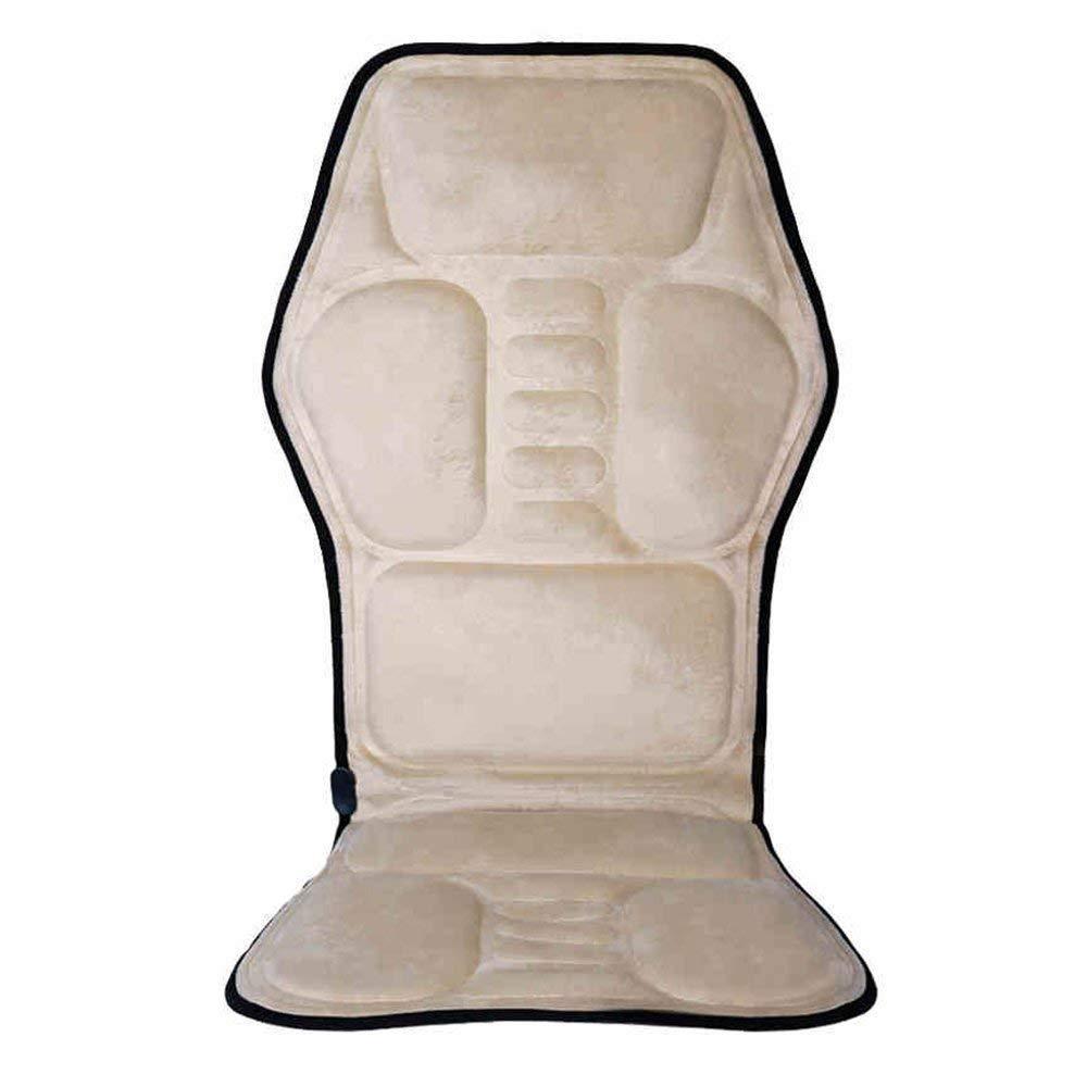 ネックマッサージャー、フルボディマッサージャー3D混練マッサージバックネック脚ヒップボディ折衷的なバックマッサージ振動加熱椅子クッション折りたたみマット B07SV4X247