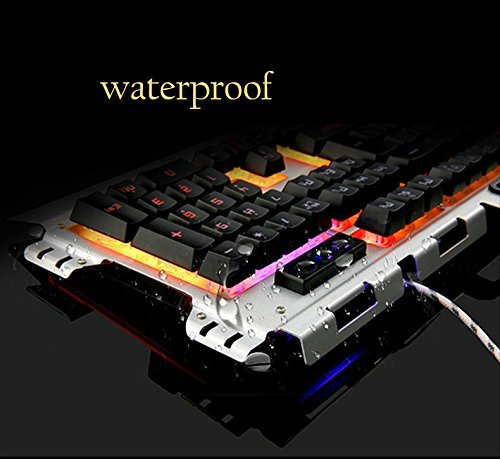 51 1UlpFzaL - Gaming-Keyboard-Fxexblin-LED-Backlit-105-Keys-Mechanical-Feel-Gaming-Keyboard-USB-Wired-Great-for-Working-or-Prime-Gaming