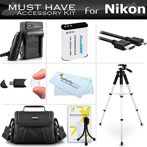 Essential Accessories Kit For Nikon COOLPIX P900, P610, P600, B700 Wi-Fi Digital Camera Includes Replacement (2200maH) EN-EL23 Battery + Ac/Dc Charger + Micro HDMI Cable + Case + 57