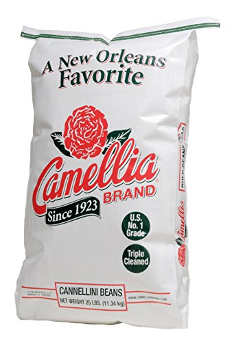 Camellia Brand - Cannellini Beans, Dry Beans (25 Pound Bag)