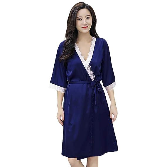 SHJIRsei Kimono Batas Mujer,Ropa de Dormir Sexy Babydoll de Vestido de Kimono Sexy para