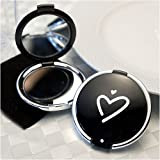 Styling Black Heart Design Compact Mirror, 1