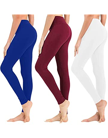 497bcddaf14db High Waisted Leggings for Women - Soft Athletic Tummy Control Pants for  Running Cycling Yoga Workout