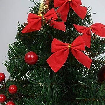 Da.Wa 12 X Exquisite Christmas Bow Christmas Tree Decoration Ornament Christmas Decoration(Silver