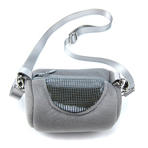 Alfie Pet - Sutton Travel Carrier Vacation House for Small Animals Like Dwarf Hamster and Mouse - Color: Grey