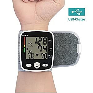 Vangold USB Rechargeable Wrist Blood Pressure Monitor with Portable Case BP Monitor for Health Care- 2 Years Warranty (USB Rechargeable)