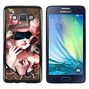 Paccase / SLIM PC / Aliminium Casa Carcasa Funda Case Cover - Cute Baroque Woman - Samsung Galaxy A3 SM-A300
