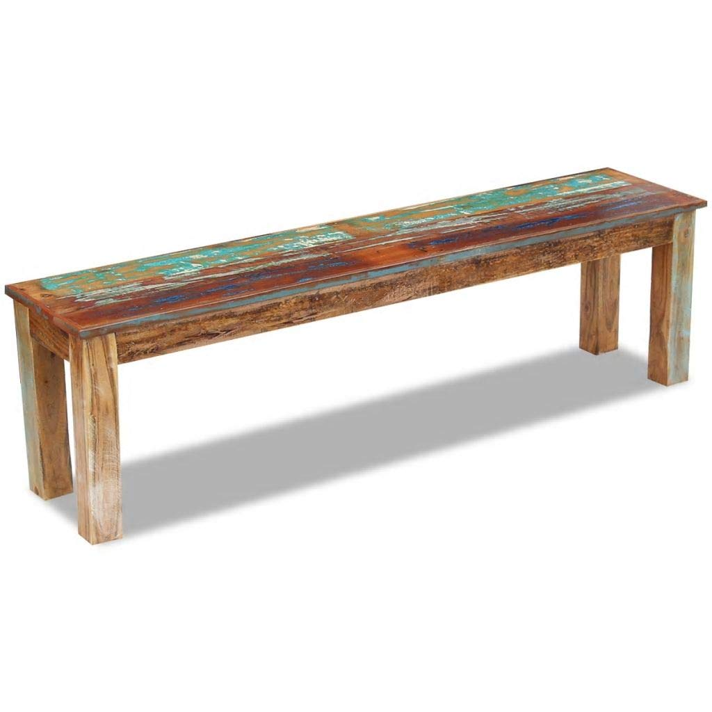 Marvelous Amazon Com Festnight Rustic Bench Reclaimed Wood Entryway Pdpeps Interior Chair Design Pdpepsorg
