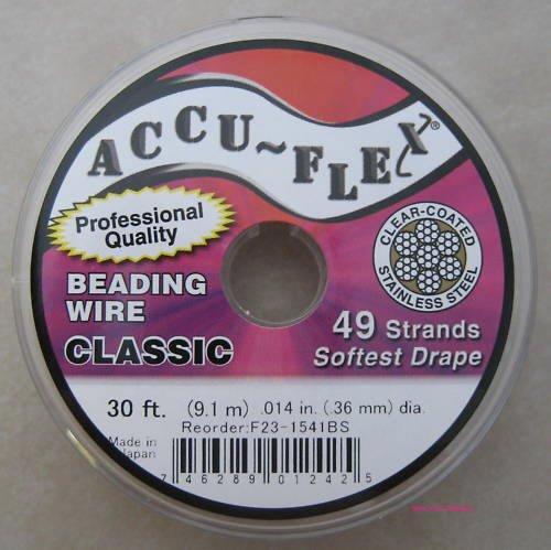 Accu-flex Beading Wire .014 Inch Width 49 Strand 30 Feet
