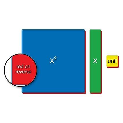Amazon.com: EAI Education QuietShape Algebra Tiles Classroom Kit ...