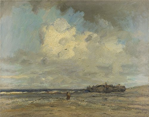 Polyster Canvas ,the Imitations Art DecorativePrints On Canvas Of Oil Painting 'Jacob Maris A Beach ', 20 X 26 Inch / 51 X 65 Cm Is Best For Laundry Room Artwork And Home Gallery Art And Gifts