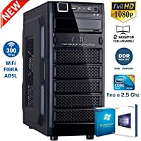PC DESKTOP CON LICENZA WINDOWS 10 pro oppure Windows 7 pro Talloncino con seriale a vostra scelta INTEL QUAD CORE RAM 8GB DDR HD1TB DVD/WIFI/HDMI FISSO COMPLETO ASSEMBLATO