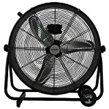 Hurricane Pro High Velocity Metal Drum Fan 24 inch - 736470 - Heavy Duty Drum Fan for Industrial, Commercial and Greenhouse Use