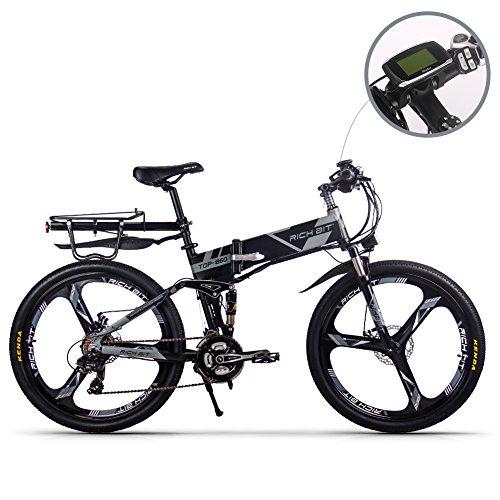 RICHBIT TOP860 하이브리드 산악자전거 차세대형 스포츠 타입 어시스트 자전거 3색(그레이)일본 국내 총대리점 정규품 안심 국내 배송・애프터 서비스 PL보험 가입필