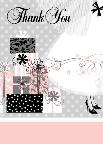 8 Count Elegant Wedding Thank You Notes by Unique (Image #1)