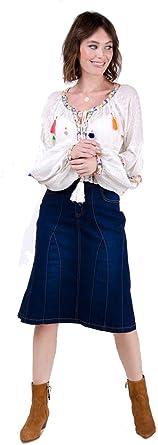 USKEES Kim Falda Vaquera por la Rodilla - Color de añil Falda ...
