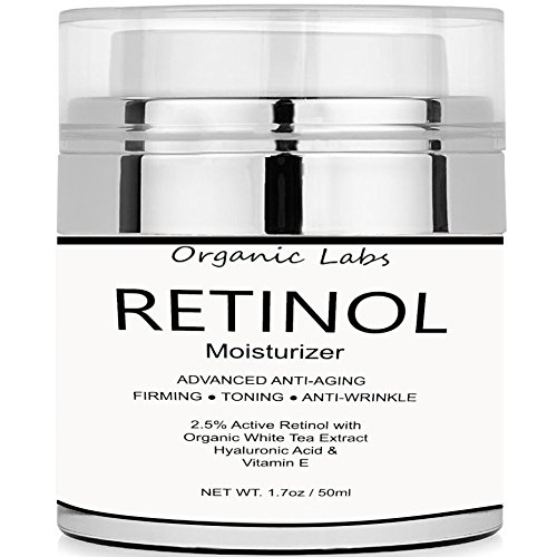 Organic Labs Retinol Eye Gel with Best Natural Ingredients: Hyaluronic Acid, Retinol, Organic Shea Butter, Organic White Tea, Vitamins for Anti-Aging + Anti-Wrinkle, Even Skin Tone (1.7 Ounce Skin Replenisher)