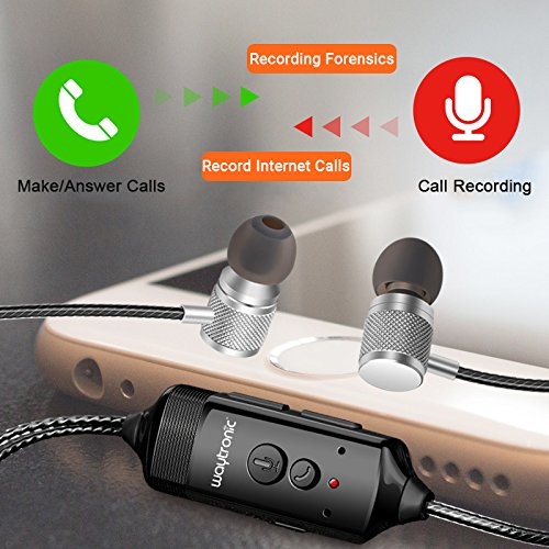 Waytronic Cellphone Call Recorder Headphone for iPhone