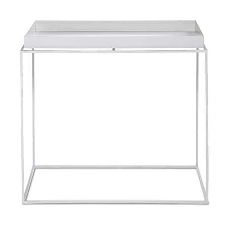 Hay Tray Table Beistelltisch Rechteckig Weiss 40x60x54cm Amazon De
