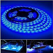 Vbakor Pontoon LED Strip Lights, 12V 5M/16.4FT Waterproof Marine LED Light Boat Interior Light, Boat Deck Ligh