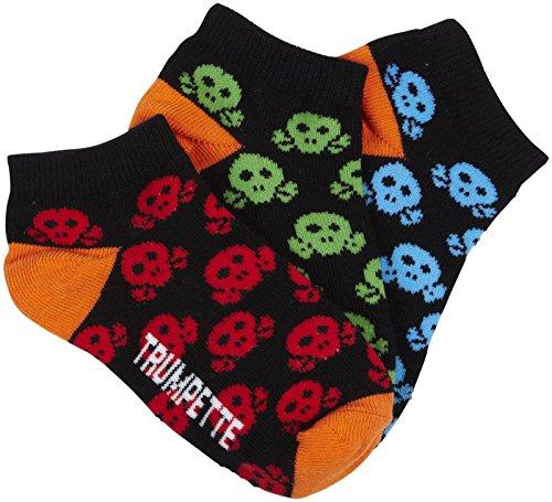 Trumpette Skull Kid Socks (Toddler/Kid) - Bright Skull-Small