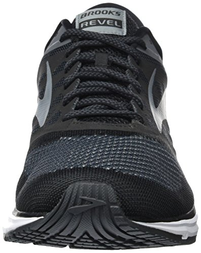 Brooks Mens Revel Nero / Antracite / Primer Grigio