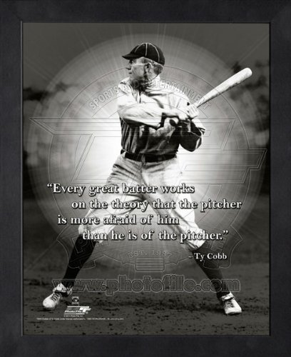 Framed Tigers Detroit Photo (Ty Cobb Detroit Tigers Pro Quotes Framed 8x10 Photo #3)