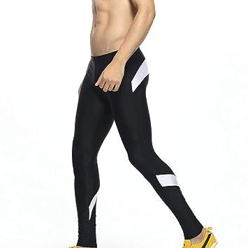 Zehui Pantalones de Deporte de los Hombres, Pantalones elásticos de Gimnasio de Skinny Gym Leggings Gimnasio Transpirable 2018 últimos moldes S Azul Oscuro ...
