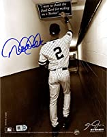 Derek Jeter Signed Sepia Shot In Tunnel At The Original Yankee Stadium Vertical 8x10 Photo (Signed By Photographer Anthony Causi) (MLB Auth)
