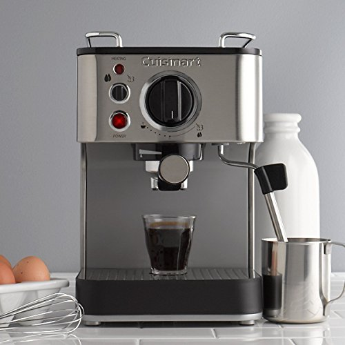 Cuisinart 15-Bar Espresso Maker with Steam Nozzle and Cup Warming Tray Gourmet Coffee USA