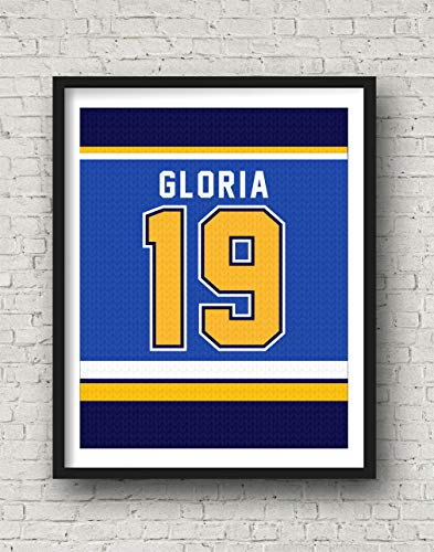 St. Louis Blues Inspired Poster | Stanley Cup | Gloria | Hockey Jersey