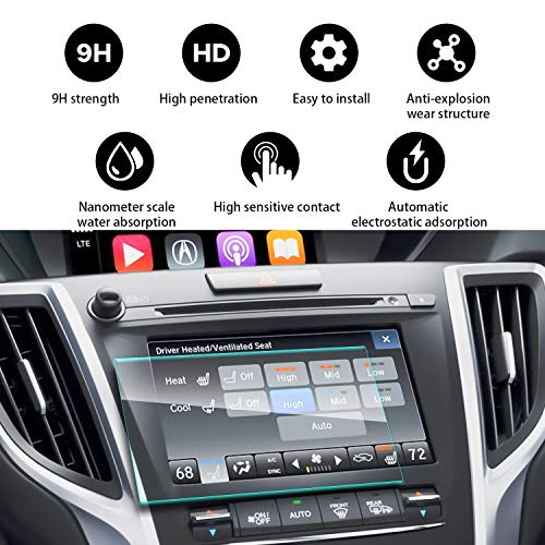 YEE PIN 2015 2016 2017 2018 2019 Acura RLX TLX ODMD Display 7Inch Navigation Protector, Reduce The Fingerprints Touch Sensitivity Anti-Explosion Tempered Glass