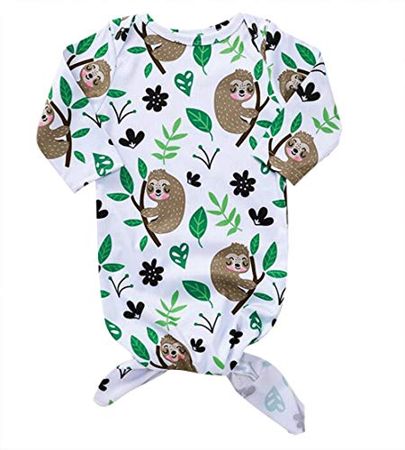 Newborn Baby Floral Sleeping Bag Sloth Print Receiving Blanket Wearable Swaddle Wrap Size 0-6 Months/Tag70 -