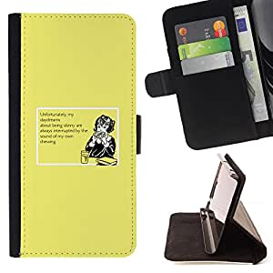 DEVIL CASE - FOR Samsung Galaxy S3 Mini I8190Samsung Galaxy S3 Mini I8190 - Daydream Food Dreaming Diet Skinny Healthy - Style PU Leather Case Wallet Flip Stand Flap Closure Cover