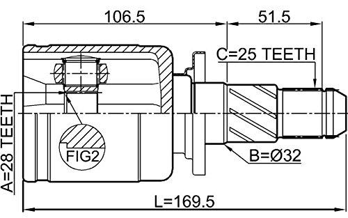 FEBEST 0811-S12R Rear Inner CV Joint