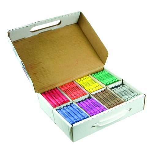 Prang Crayons Master Pack, Large Size, 8 Assorted Colors, 200 Count (32341) ()