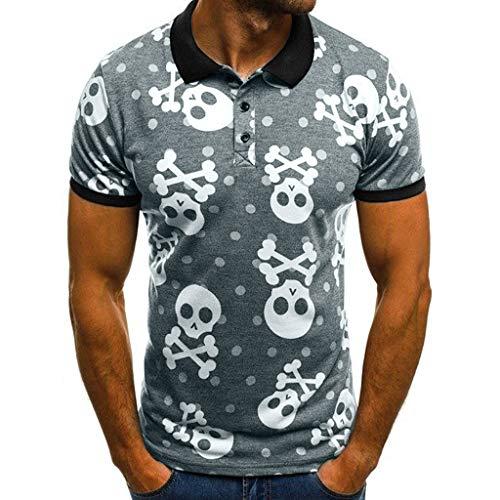 Fashuion!! SFE Men Summer Shirts,Men's New Skull