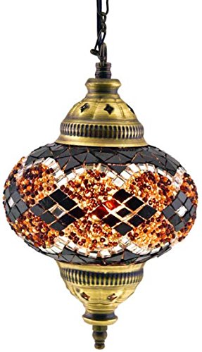 Turkish Moroccan Mosaic Glass Handmade Ceiling Pendant Fixture Hanging Lamp Light,7
