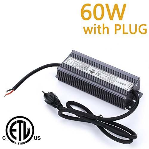 Weanas 60W LED Power Supply Driver Transformer Adapter ET...