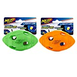 Nerf Dog Assortment: 4in LED Bash Football, Green and Orange 2 Pack, Dog Toy Review