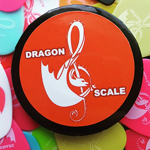 Guitar picks - 10 Picks in a Dragon Scale Guitar pick tin. Pick packs are for men or women and come in a range of sizes: .46mm.71mm.88mm, 1mm, 1.2mm or our Variety pack. (variety)]()