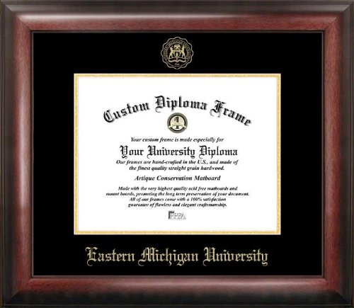 Campus Images ''Eastern Michigan University Embossed Diploma Frame, 8'' x 10'', Gold